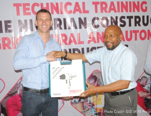 Fuller Receives Power Tools & Equipment from GIZ in Abeokuta
